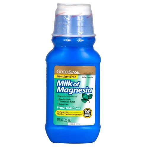 GoodSense Milk of Magnesia Saline Laxative, Mint, 12 Fluid O