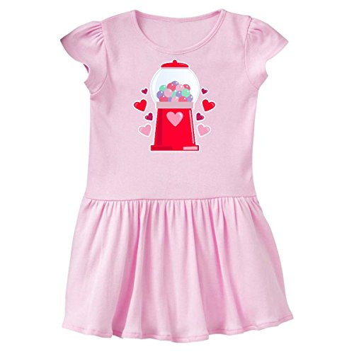 inktastic Valentine's Day Gumball Toddler Dress 3T Ballerina Pink 286b9