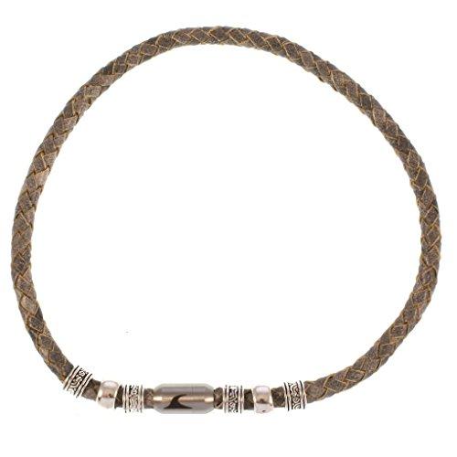 3c471e16f485 85% OFF wavepirate® Piel de collar Charm F gris plata hombre - www ...