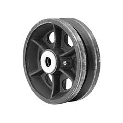 8'' x 2'' Cast Iron V-Groove Wheel, 1200 lbs Capacity, 3/4'' Roller Bearings