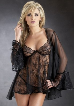 Image Unavailable. Image not available for. Colour  romajay Womens Sexy  Black Lace Sleeping Gown fits size M. SC2202 89dee377b