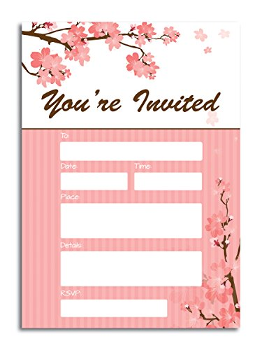 You're Invited Flower Fill-in Invitations - (25) 5x7