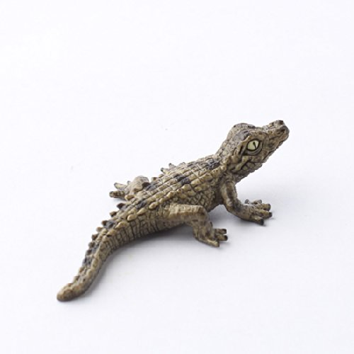 Set of 2 Intricately Hand Crafted Miniature Resin Baby Crocodiles for Fairy Gardens, Crafting, and Creating