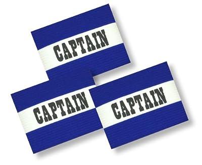 Soccer Team Captain's Arm Band 3-Pack Blue A