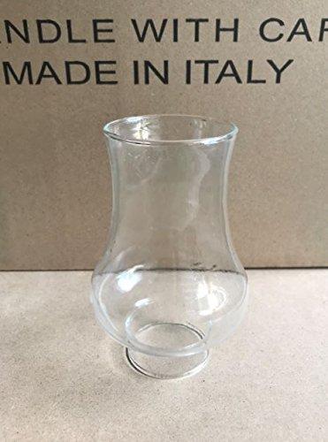 Ricambio vetro per lumi a petrolio campana vetro trasparente per lumi ad olio e petrolio, tubi per lumi in vetro 5 x 14, 5 cm Euro Glass Angelo