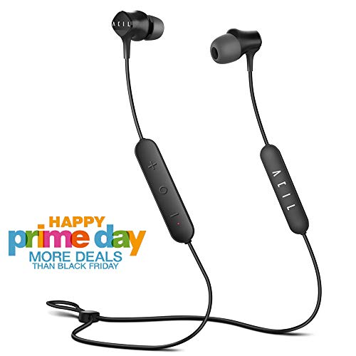 Bluetooth Earbuds, ACIL Wireless Earbuds 12H Battery Sweatproof, Hybrid Dual Drivers Superb HiFi Stereo, Ultra Comfort Secure Fit, Noise Cancelling Bluetooth in-Ear Headphones w/Mic & Magnetic Feature