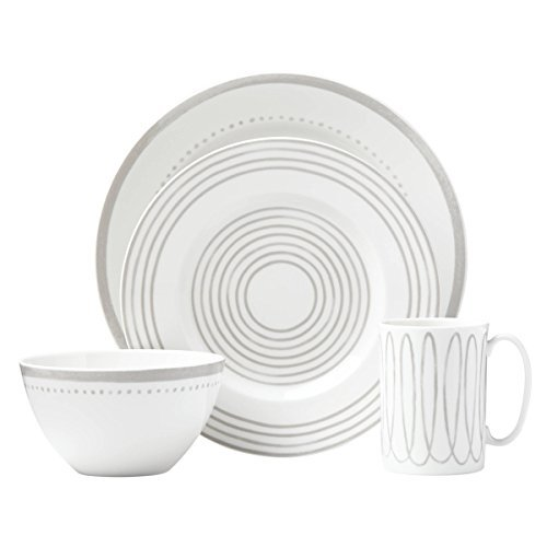 kate spade New York 867951 Charlotte Street West Grey 4 Piece Place Setting - New 4 Piece Setting