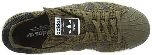 Adidas Unisex-erwachsene Superstar 80s Primeknit Sneaker Grün (traccia Oliva / Core Nero / Traccia Carico)