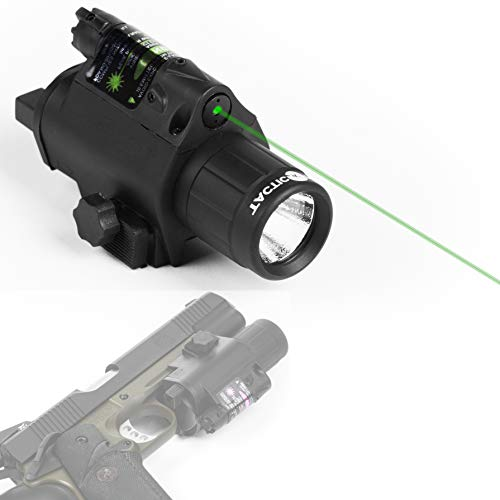 Tacticon Armament Green Laser Flashlight for Handgun or Rifle with Picatinny Rail Mount and Tail Switch (Green-Laser) (Best Green Laser For Ar 15)