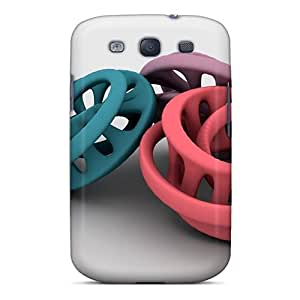 Snap-on Abstract Case Cover Skin Compatible With Galaxy S3