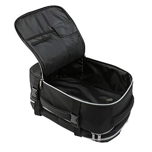 Cabin Max Chicago Sac à Dos de Voyage Bagage de Cabine 20L pour Ryanair 40x20x25 cm Sac à Dos Week-End Voyage Vacances Vols Noir Bagage à Main A Mettre sous Le siège Travail