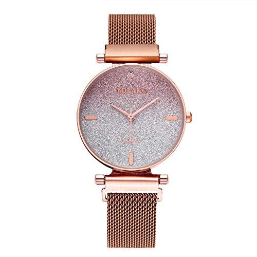 (Respctful✿ Womens Watches Waterproof Ladies Analog Quartz Wrist Watches Simple Design Watches Business Minimalist Wacthes)
