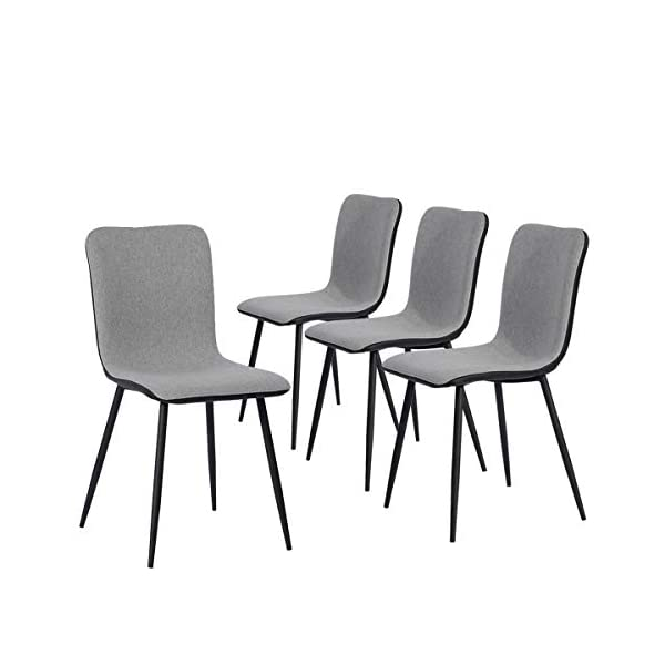 Coavas Set of 4 Kitchen Dining Side Chairs with Sturdy Metal Legs for Home Kitchen Living Room,Assemble All 4 in 5 Minutes