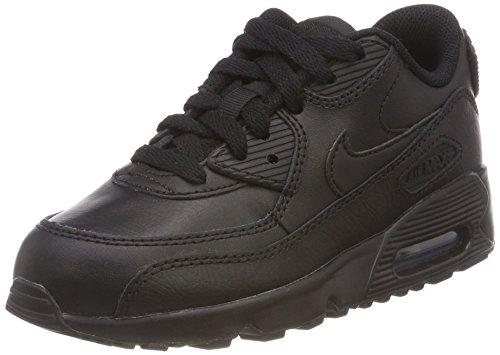 Nike Air Max 90 LTR Black/Black (Little Kid) (13 Little Kid M) (Nike Air Max 90 Mens Size 13)