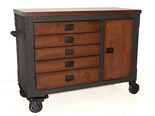 Duramax 48 in. 5-Drawers Rolling Tool Chest with Wood Top