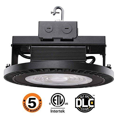 UFO LED High Bay Light,98W [250W-350 Equivalent] 14500lm 5000K IP65 Waterproof Industrial Grade Warehouse Hanging Light Workshop Lamp cETLus Listed-98W-F by OOOLED