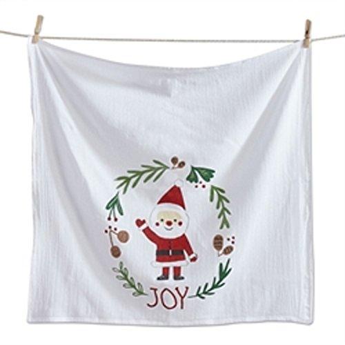 - Flour Sack Dishtowel Holly Jolly Santa