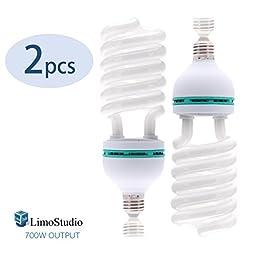 LimoStudio (2) x 6500K 85W Photography Lighting Photo Studio Light Bulbs, Daylight Balanced, LMS119