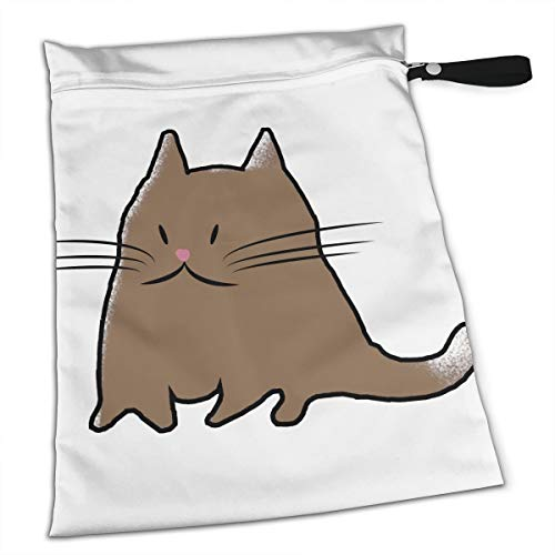 YyTiin Reusable Snack and Everything Bags - Funny Fat Cat,Large