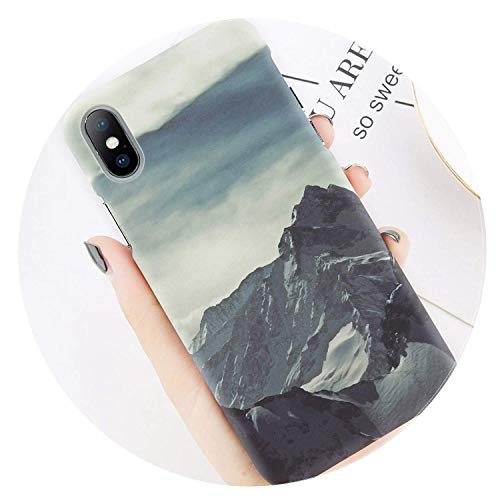Phone Case for iPhone 8 7 Plus Mountain Peak Forest Back Cover for iPhone X XS XR XS Max 7 6 6S Plus Hard PC Cases Coque AC1042 for iPhone 7 Plus,AC1038,ForiPhoneXS