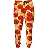 Pizza with Bacon Sweatpants 3D Printed Joggers Plus Size Fall Style Pants Casual Trousers