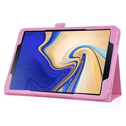 Galaxy Tab S4 10.5 Case, Businda 360 Degrees Rotating Magnetic PU Leather with Smart Stand Auto Sleep/Wake Case Cover for Samsung Galaxy Tab S4 SM-T830 (Wi-Fi)/SM-T835 4G (LTE) 10.5-inch 2018-Pink by Businda (Image #4)