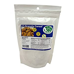 Low Carb Granola Cereal Mix - Plain - LC Foods - All Natural - Paleo - Gluten Free - No Sugar - Diabetic Friendly - 9.87 oz