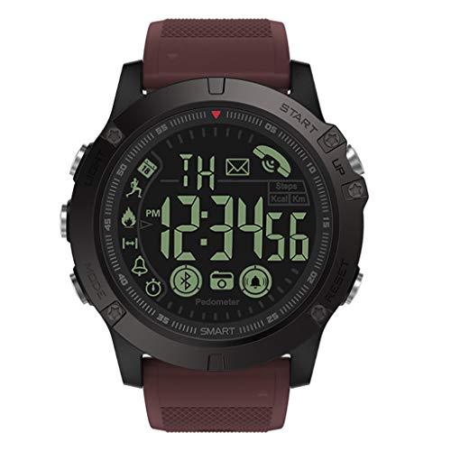 - HankuLatest 2019 T1 Tact - Flagship Rugged Grade Super Tough Waterproof Smart Watch (Red)