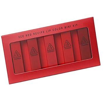 3CE Red Recipe Lip Color Mini Kit