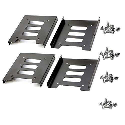 TANG SONG 4PCS 2.5 to 3.5 SSD HDD Hard Disk Drive Bays Holder Metal Mounting Bracket Adapter with Screws for PC SSD by TANG SONG (Image #3)