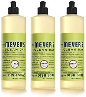 product image for Mrs.+Meyers+Dish+Soap+Liquid+Lemon+Verbena+16+Ounce+(Pack+of+3)+Aromatherapeutic%2c+Cuts+Grease%2c+Biodegradable