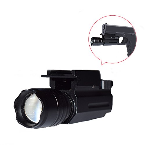 Feyachi-220-Lumen-Tatical-Weaver-Mount-PistolRifle-LED-Flashlight-Quick-Release-For-20mm-Picatinny-Rail