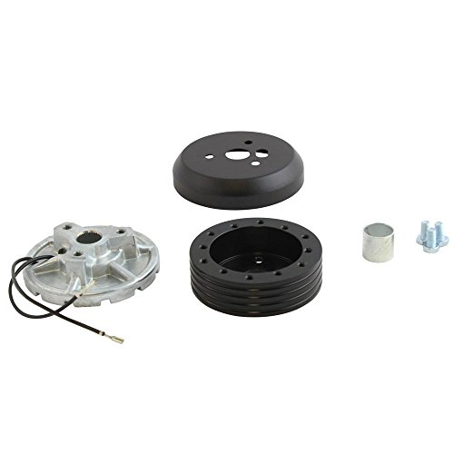 6 Hole Matte Black Hub Adapter Installation Kit B02 For Aftermarket Steering Wheels
