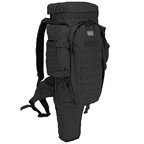 XINGZHE Tactical Gun Backpack - Shooting Rifle Pistol Gun Range Bag Pack - Heavy Duty Military Backpacks Large 3 Day Assault Pack Army Molle Bug Out Bag Rucksack - Go Bag for Hiking Camping (Black)