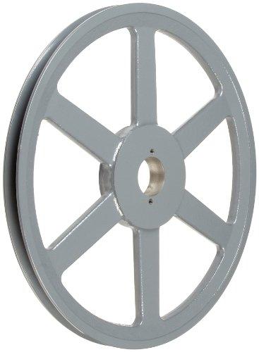 TB Woods BK140 FHP QT Bushed V-Belt Sheave, B Belt Section, 1 Groove, QT Bushing required, Cast Iron, 13.75