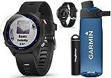 Garmin Forerunner 245 Music (Black) Running GPS Watch Runners Bundle   +Garmin Water Bottle, HD Screen Protectors & PlayBetter Portable Charger   Music & Spotify, PulseOx 2019 010-02120-20