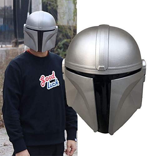 miwaimao Tairong Halloween masker, full face latex masker, Mandaloriaanse helm Star Wars Deluxe latex masker Halloween partij cosplay prop