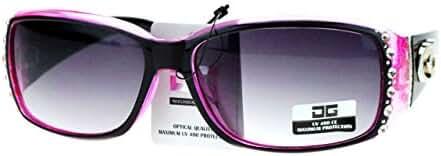 CG Eyewear Womens Rhinestones Sunglasses Rectangular Designer Fashion