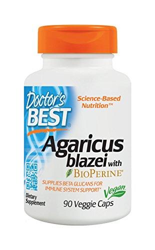 Doctor's Best Agaricus blazei, Non-GMO, Vegan, Gluten Free, Soy Free, 400 mg 90 Veggie (Agaricus Blazei Mushrooms)