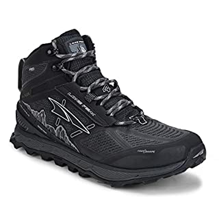 ALTRA Men's ALM1855N Lone Peak 4 Mid RSM Waterproof Trail Running Shoe, Black - 11.5 M US