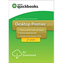 QuickBooks Desktop Premier 2018 with Industry Editions Small Business Accounting Software 2 User [PC Download]