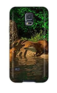 lintao diy Hot Style McJVrEy4095Bqptj Protective Case Cover For Galaxys5(3d Animal)