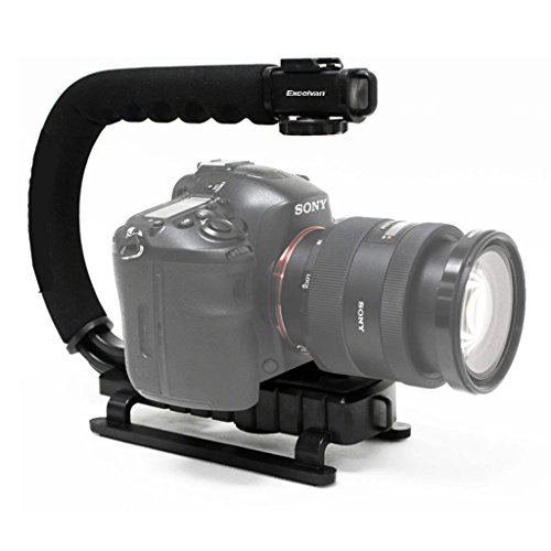 Excelvan Kamera Grip Aktion Video Stabilisator Handheld für Canon Nikon Sony DSLR Kamera Camcorder