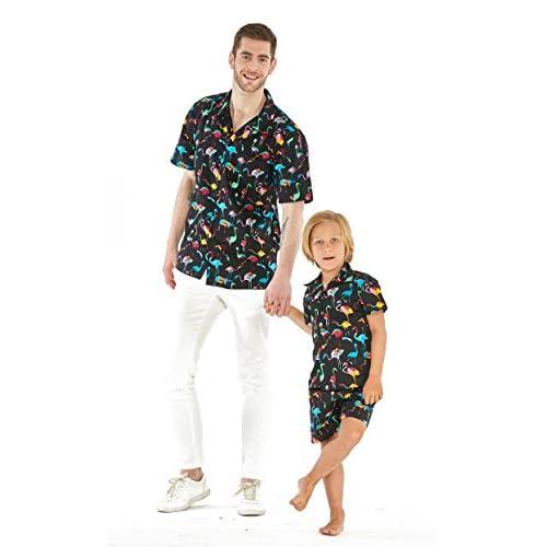 Hawaii Hangover fils père correspondant un homme outfit Luau chemise garçon chemise hommes blancs + s taille garçon 6