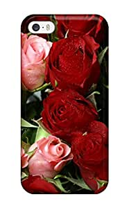 New Arrival Case Cover With Design For Iphone 5/5s- Pink & Red Roses Bouquet