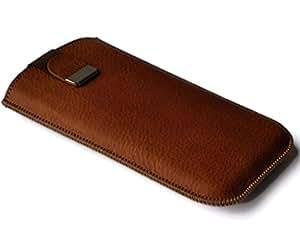 Marrón Funda de piel HTC One M8S Case Cover Funda Piel Carcasa Funda dispositivo funda carcasa de piel Funda