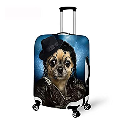 b9e451236db7 Advocator Washable Luggage Protector 3D Dogs Printed Suitcase Cover ...