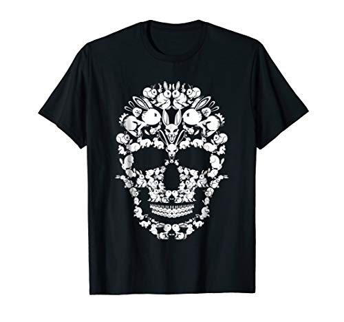 Rabbit Skull Shirt Skeleton Halloween Costume Idea Gift