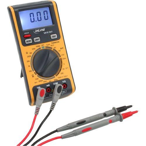 InLine 43115 Multimeter 3-in-1 mit RJ45/RJ11 Kabeltester und Batterietester