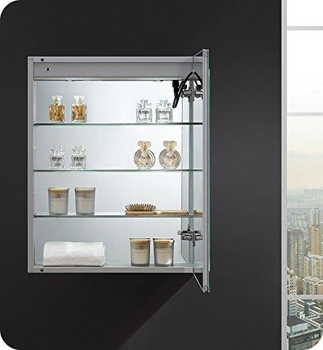 Fresca Spazio 24 inch Wide x 30 inch Tall Bathroom Medicine Cabinet -